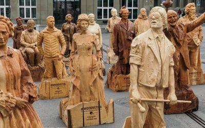 #WOODVETIA – présentation de la 20e statue en bois et inauguration de l'exposition réunissant l'ensemble des statues