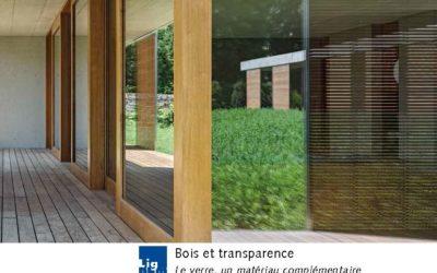 Bois et transparence – Le verre, un matériau complémentaire
