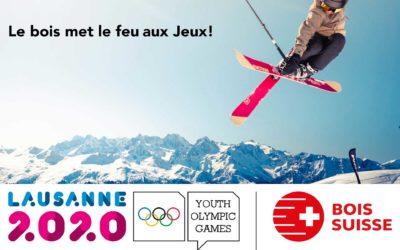La flamme olympique de Lausanne 2020, alimentée en bois suisse, inscrit les Jeux dans la durabilité