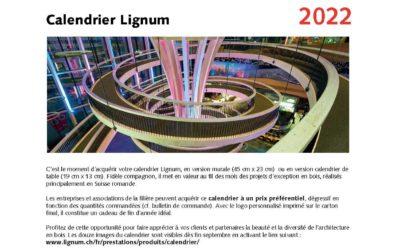 Calendriers Lignum 2022 : commandez dès maintenant !